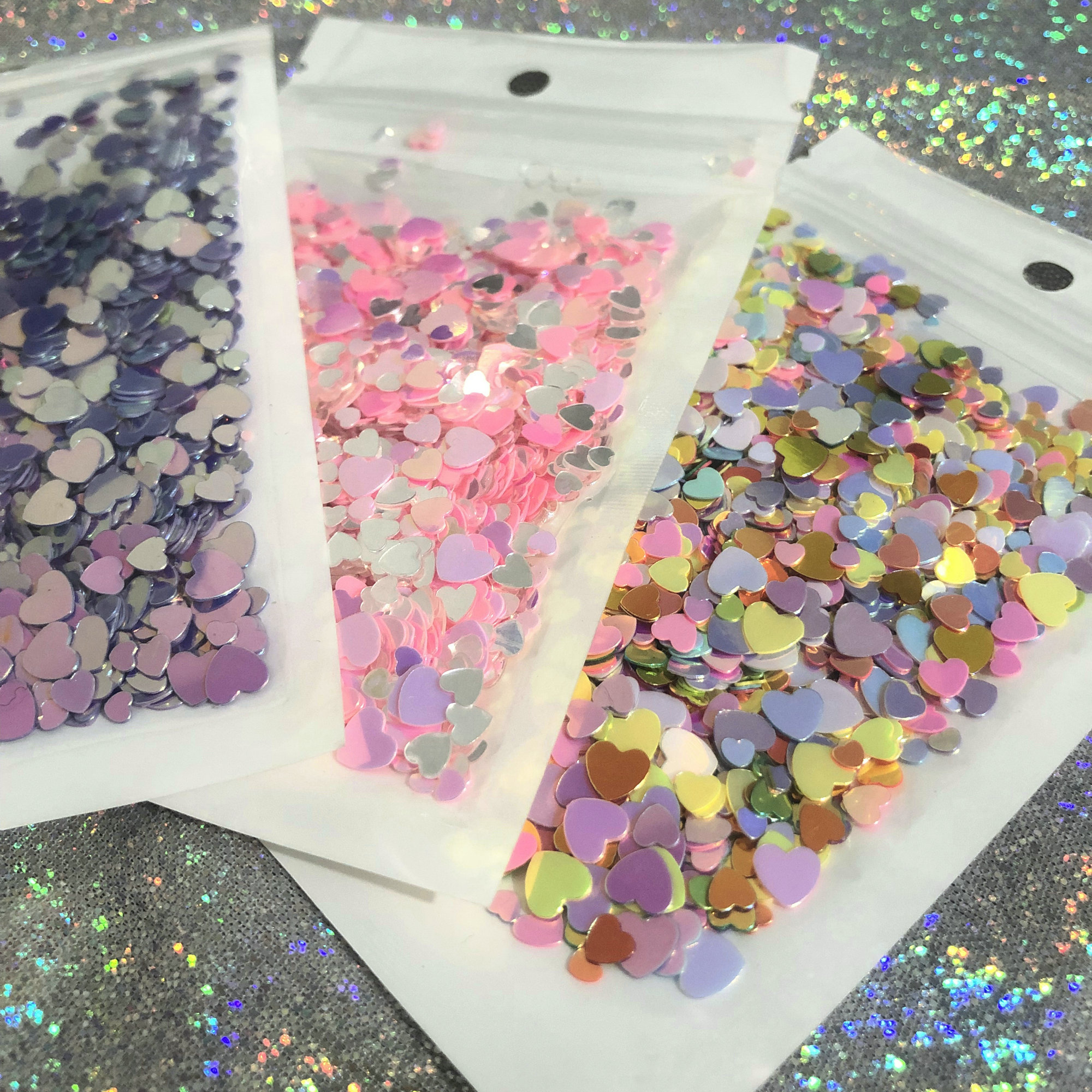 Slime charms Mix Charms Shiny Fillings Puffy Heart Cuts Decor Slime 9
