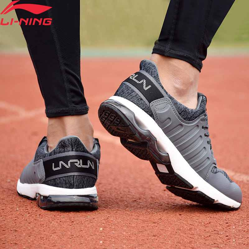 Li-Ning Men BUBBLE ARC Cushion Running Shoes Wearable Anti-Slip LiNing Li Ning Sport Shoes Breathable Sneakers ARHM091 XYP592