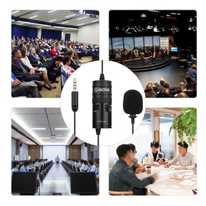 Image 2 - BOYA BY M1 פרו Lavalier מיקרופון קליפ על הקבל מיקרופון Wired 3.5mm סטודיו מיקרופון עבור Smartphone Mac Vlog DSLR מצלמת וידאו אודיו