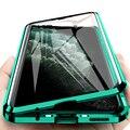 Dwustronne szkło hartowane magnes dla Samsung S20 Ultra S8 S9 S10 Plus Note9 10 A10 A30 A50 A71 360 pełna ochrona odwróć pokrywa