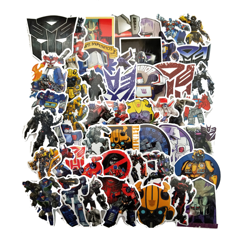 50Pcs Optimus Prime Transformers Sticker For Trolley Case Skateboard Phone Doodle Personality Waterproof Sticker