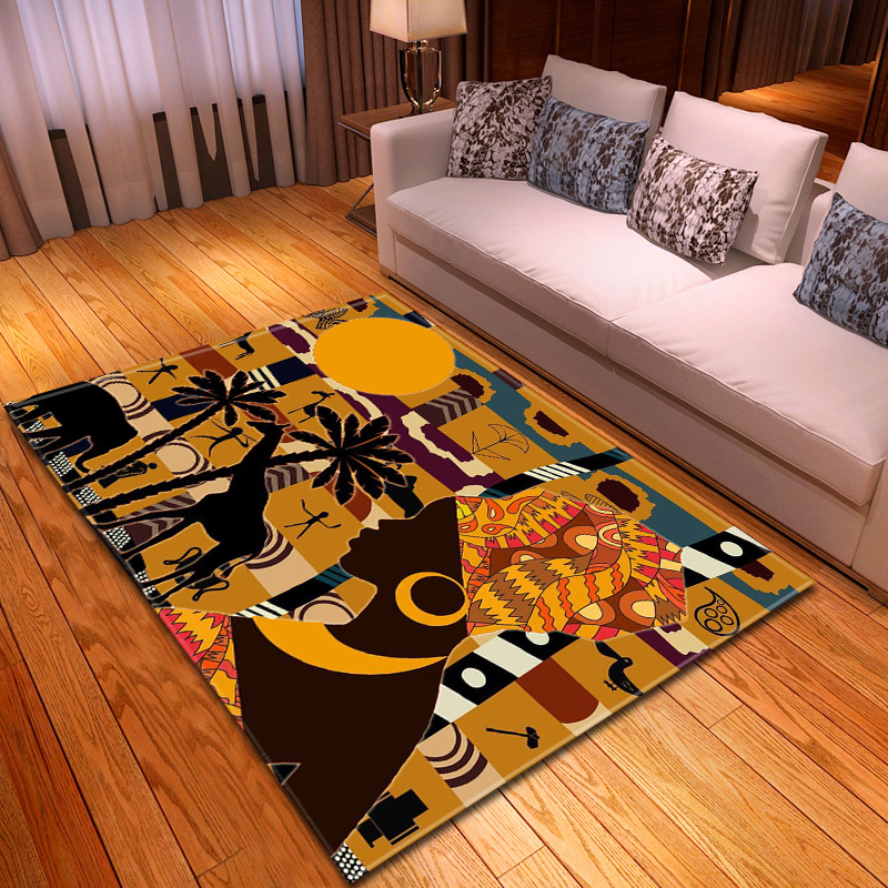 3D African Woman Beauty Carpet Large Size Rugs For Bedroom Restaurant Floor Mat Living Room Parlor Tapete Sofa Soft Home Rug