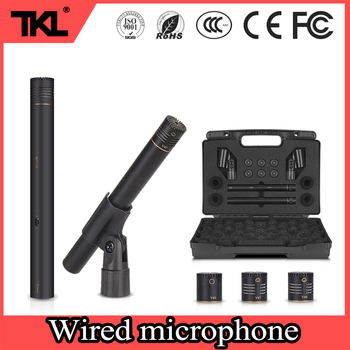 TKL 2-Pack stage performance Pencil Stick Condenser Microphone Omni Cardioid Super Cardioid Capsules wired Microphone