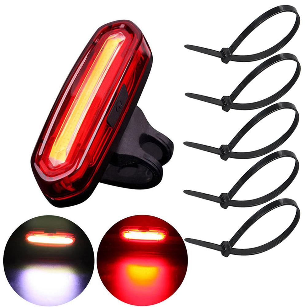 Bike Bicycle LED Lights Set USB Rechargeable Mountain Cycle Front Back Headlight