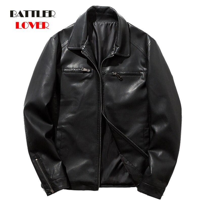 Men High Quality Split Leather Jacket Coat Mens Winter Outwear Biker Zipper Motorcycle Leather Jacket Male Hip Hop Punk Jackets