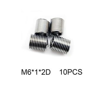 10 sztuk M6 * 1 * 2D srebrny zestaw do naprawy i umieszczania gwintów zestaw 304 ze stali nierdzewnej do narzędzi do naprawy sprzętu tanie i dobre opinie Obróbka metali Thread Repair Insert Drzewa wstaw