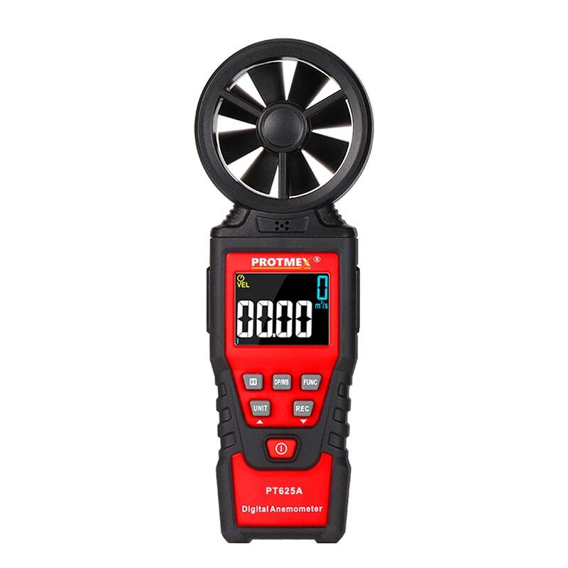 Anémomètre numérique poche compteur de vitesse du vent jauge de Volume d'air compteur de vitesse de l'air débitmètre de mesure Via écran LCD