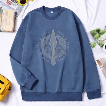 Men Viking Sweatshirt Hoodie Valhalla Odin Hoodie Pullovers Fashion Hoodies Hip Hop Hombres Sudaderas Autumn Winter Streetwear 1
