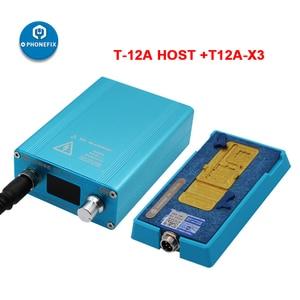 Image 3 - SS T12Aสถานีบัดกรีเมนบอร์ดLayered Face ID FixสำหรับiPhone 6 7 8 X XS 11Pro Max CPU NANDความร้อนdisassemblyแพลตฟอร์ม