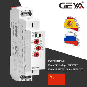 Image 5 - Free Shipping GEYA GRT8 M 16A Multifunction Timer Relay with 10 Function Choices AC DC 12V 24V 220V 230V Time Relay