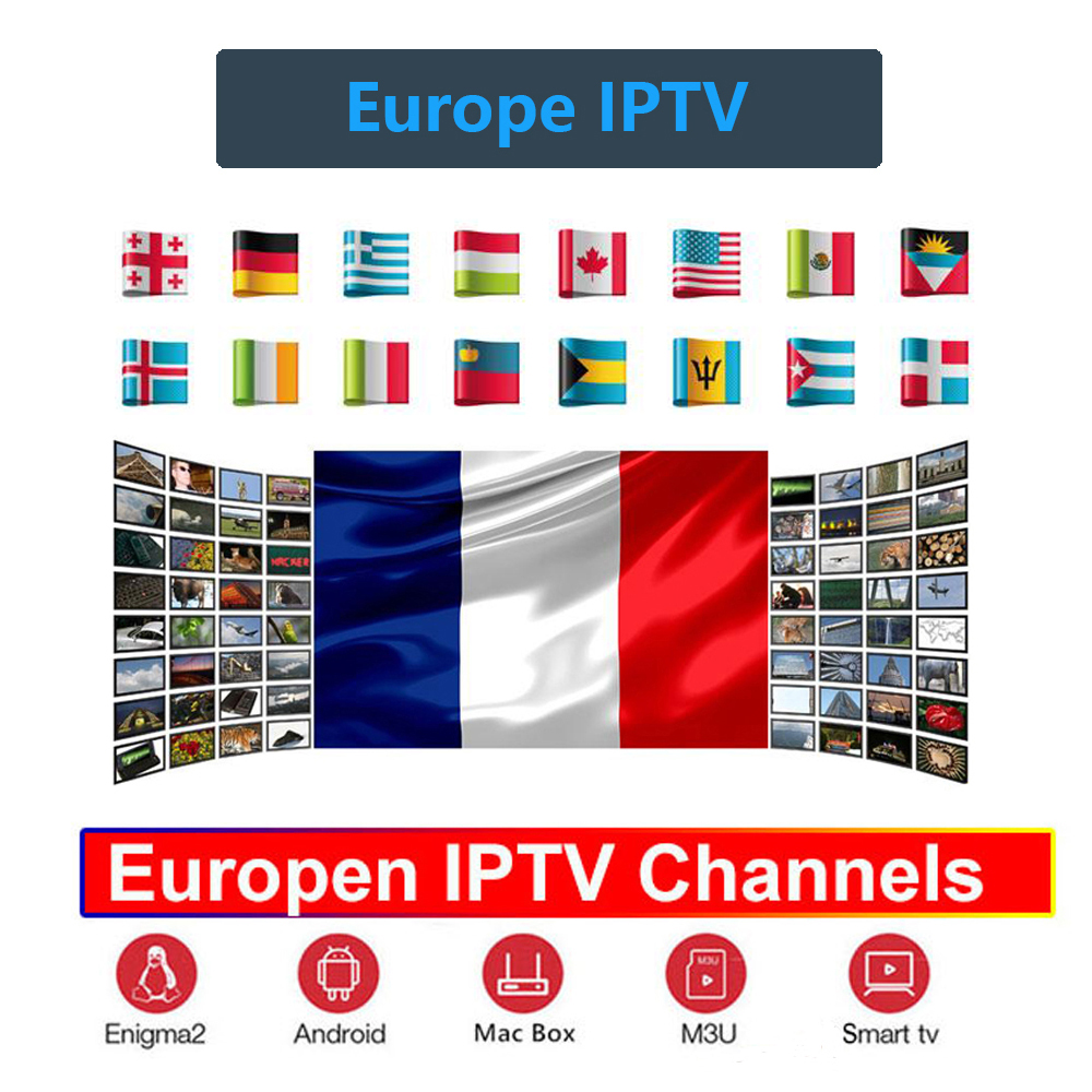 IPTV M3U Italy Europe Brazil France Spain Subscription German Poland UK portugal for Android 9.0 TV Box