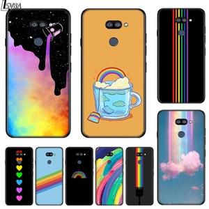 Image 1 - أزياء قوس قزح الفن ل LG K22 K71 K61 K51S K41S K30 K20 2019 Q60 V60 V50 V40 V35 V30 G8 G8S G8X ThinQ جراب هاتف