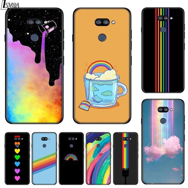 أزياء قوس قزح الفن ل LG K22 K71 K61 K51S K41S K30 K20 2019 Q60 V60 V50 V40 V35 V30 G8 G8S G8X ThinQ جراب هاتف