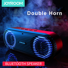 цена на Joyroom Bluetooth Speaker Subwoofer Portable Speakers Wireless Speaker Bluetooth Double Horn Stereo TF Card Bluetooth Speaker