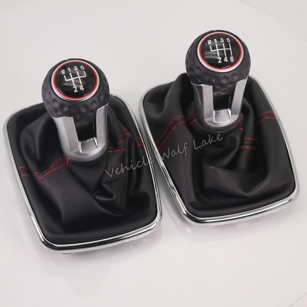 For Volkswagen VW 1999-2004 Golf 4 IV MK4 GTI R32 Bora Jetta 5 Speed 12mm Car Gear Shift Knob Lever Shifter Gaitor Boot