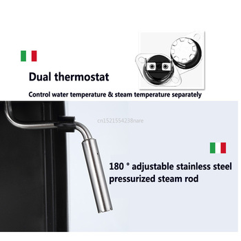 1350W/20Bar/1.5L Italian Coffee Machine Electric Semi-automatic Coffee Maker High Pressure Extraction/Double Temperature Control 2