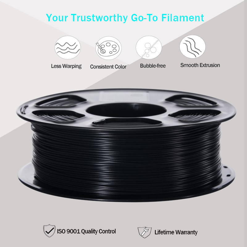 lowest price 3D Printer Filament PLA ABS TPU PETG WOOD MARBLE 1 75mm 1KG Spool 3D printing material for 3D Printers and 3D Pens