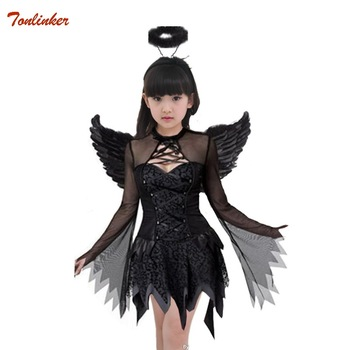 halloween witch costume for girl vampire witch tutu dress with headband bat wings children child witch fancy dress Outfit 3pcs baby girls christmas halloween costume witch vampire cosplay tutu dress kids princess tulle dress girl festival birthday dress