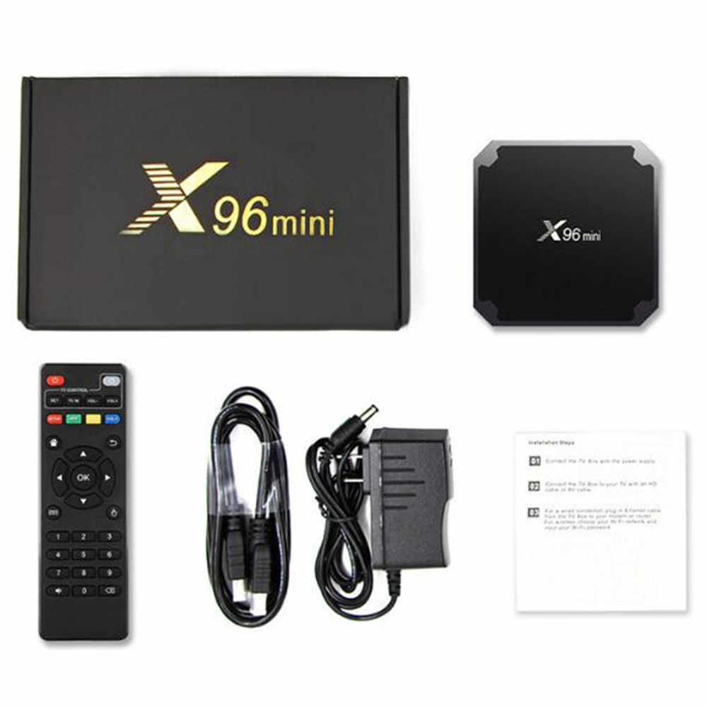 X96 Mini أندرويد 7.1 صندوق التلفزيون مشغل الوسائط الذكية Amlogic S905W 2GB RAM 16GB 1GB RAM 8GB رباعية النواة 2.4G واي فاي 4K X96Mini مجموعة صندوق