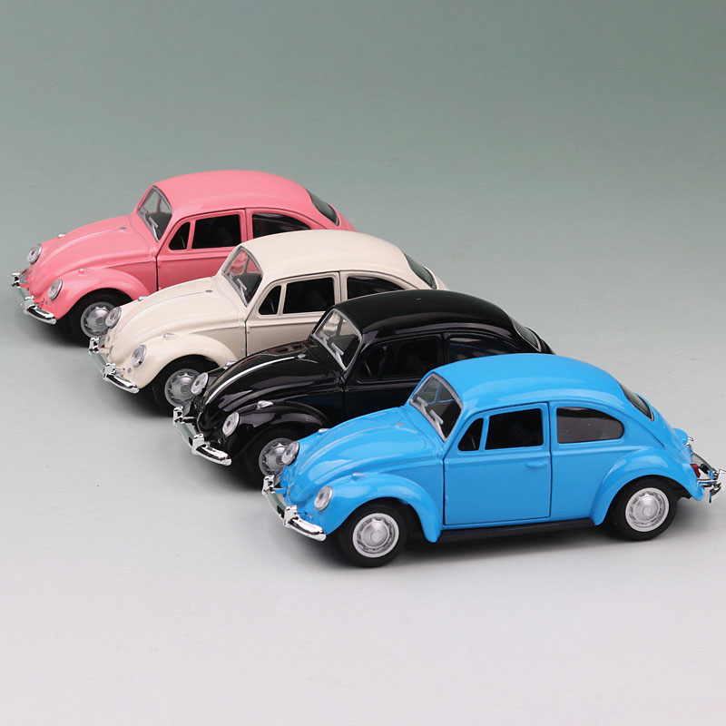 Real Alloy Beetle Car Model Toy Simulation Beetle Car Back Car Collection Desk Decorations Children Gifts Free Shipping