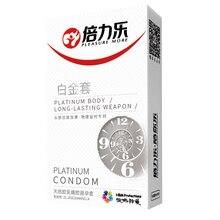 Hot 10Pcs/Pack Condom Double Thick Mens Lasting Delay Sexy Stimulation Passion Temptation Platinum