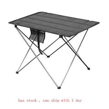 Portable Foldable Table Camping Outdoor Furniture Computer Bed Tables Picnic 6061 Aluminium Alloy Ultra Light Folding Desk wsfs wholesale 2 x portable foldable folding table desk camping outdoor picnic 7075 aluminium alloy ultra light