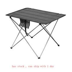 Table pliable Portable Camping mobilier d'extérieur ordinateur lit Tables pique-nique 6061 alliage d'aluminium Ultra léger bureau pliant