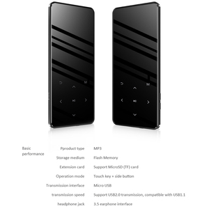 Image 5 - Популярный mp3 плеер с сенсорным экраном Bluetooth, встроенный 16 ГБ и динамик, портативный тонкий mp3 плеер без потерь HIFI с fm приемником для бега