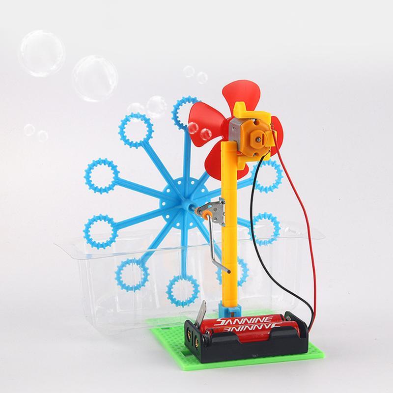 Children Bubble Machine Toys Cultivate Children Science Exploration Spirit Science Experiment Hand Cranked Blowing Bubble Toys