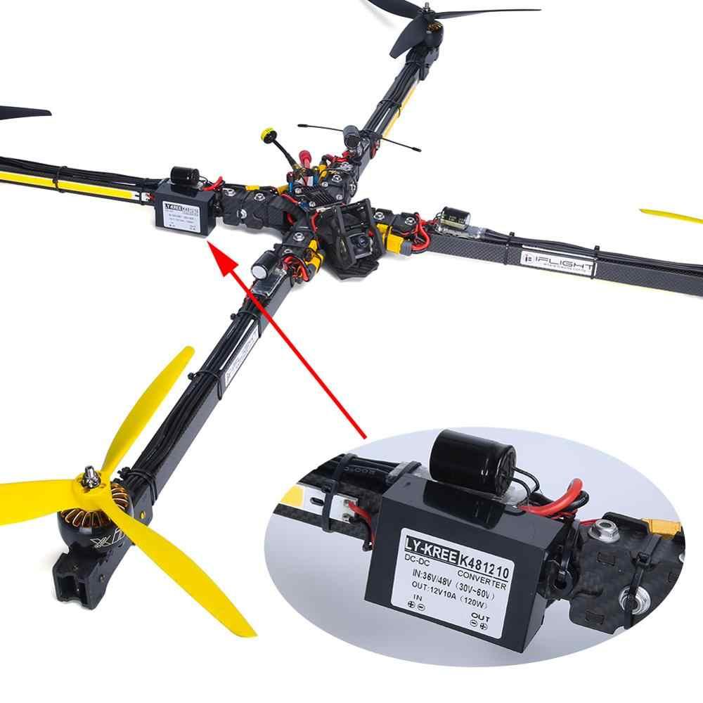 IFlight iXC15 X-CLASS 15 inç 950mm gerçek X FPV yarış çerçeve W/200x10mm 10W led ışık/36 V 48V için 12V 10A adım aşağı modülü FPV için