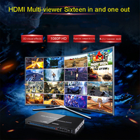 HDMI 16x1 Multi viewer with seamless switcher HDMI Screen Real Time Multiviewer Support 1080p & 3D visual effects