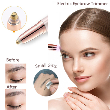 Eyebrow Hair Trimmer Removal Pens Painless Shaver Mini Cutting Electric Machine Battery Epilator Facial Portable Woman - discount item  16% OFF Personal Care Appliances