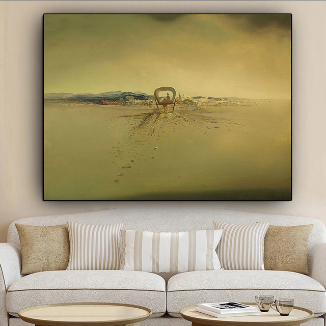 Salvador Dali Surrealism Ghost carriage Canvas Prints Painting On Wall Art Abstract Weird Posters Picture Home Decor Cuadros 4
