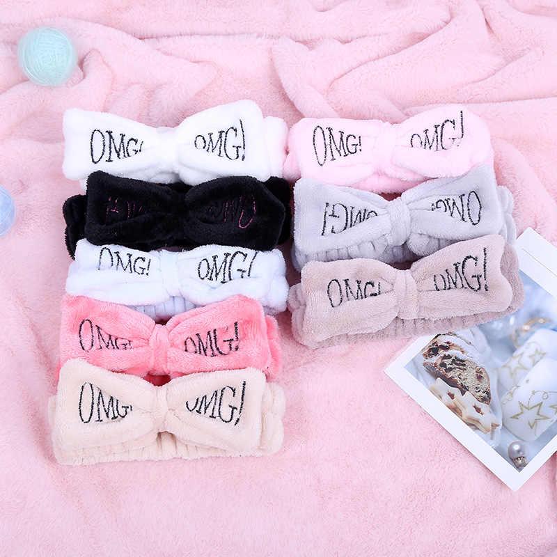 Nueva cinta para el pelo con lazo suave de lana de OMG Coral para mujeres y niñas, accesorios para el cabello