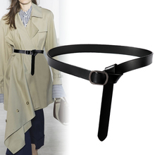 Women Waist Belt Party Shirt Waistband Fashion Thin real Leather Knot b