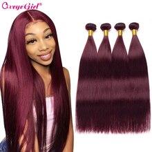 Burgundy Bundles Brazilian Hair Weave Bundles Straight