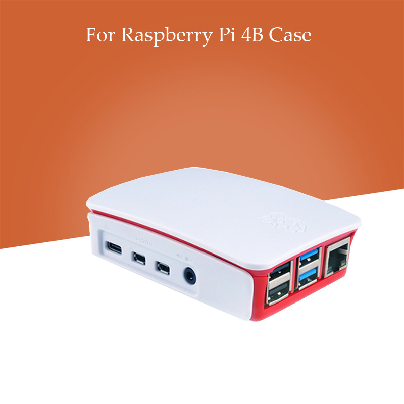 Raspberry Pi 4 Model B ABS Case Plastic Box  White Shell Classic Design For Raspberry Pi 4