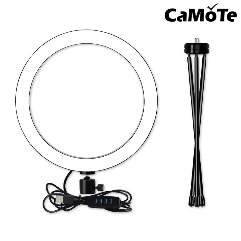 Live Selfie light lamp 6 Inch to 10 inch USB Stick Beauty  tabletop holder Table Top Lamp Camera Video Led Circle Ring Light