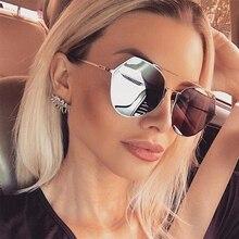 mirror sunglasses women vintage cat eye shades for women luxury Rimless female sunglasses Fashion Metal frame New 2019 oculos chic semi rimless frame cat eye sunglasses for women