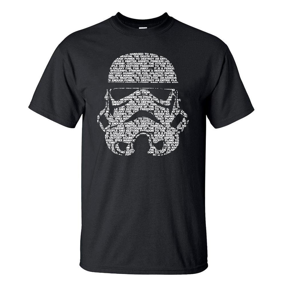 Men T Shirt 2020 Summer Fashion Star Wars Yoda/Darth Vader Streetwear T-Shirt Men's Casual T Shirts Masks Words Hip Hop Tops Tee(China)