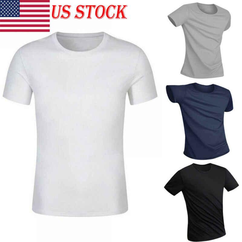 Anti สกปรกกันน้ำผู้ชายกีฬาเสื้อยืด Moisture-Wicking Fit สั้นชายกีฬาเสื้อยืดด่วนแห้ง TEE