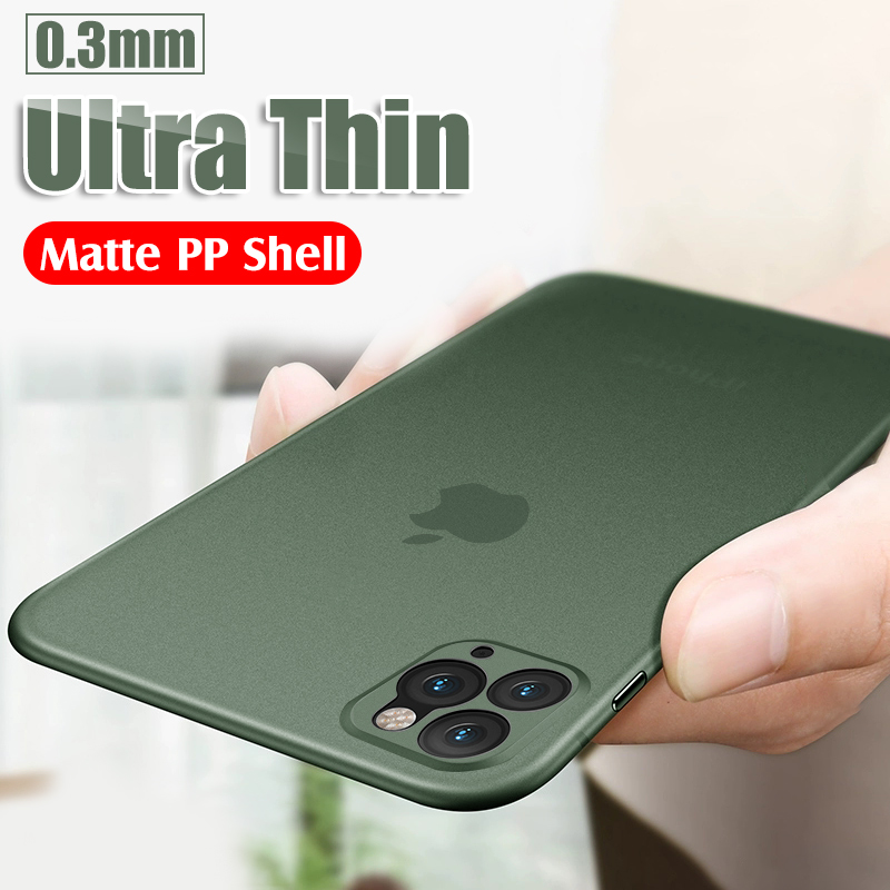 Luxury Ultra Thin Slim PP Silicone Phone Case for iPhone 11 Pro X XR XS Max 8 7 6s Plus 8Plus 7Plus Shockproof Full Cover Matte(China)