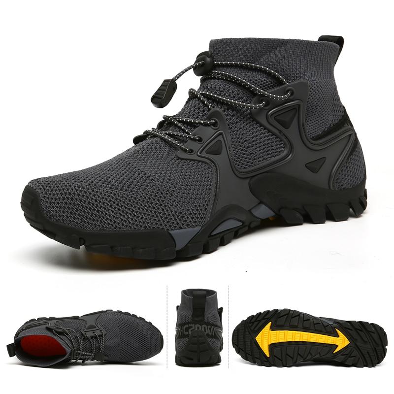 Chaussures de randonnée respirantes en maille pour hommes, Chaussures d'extérieur