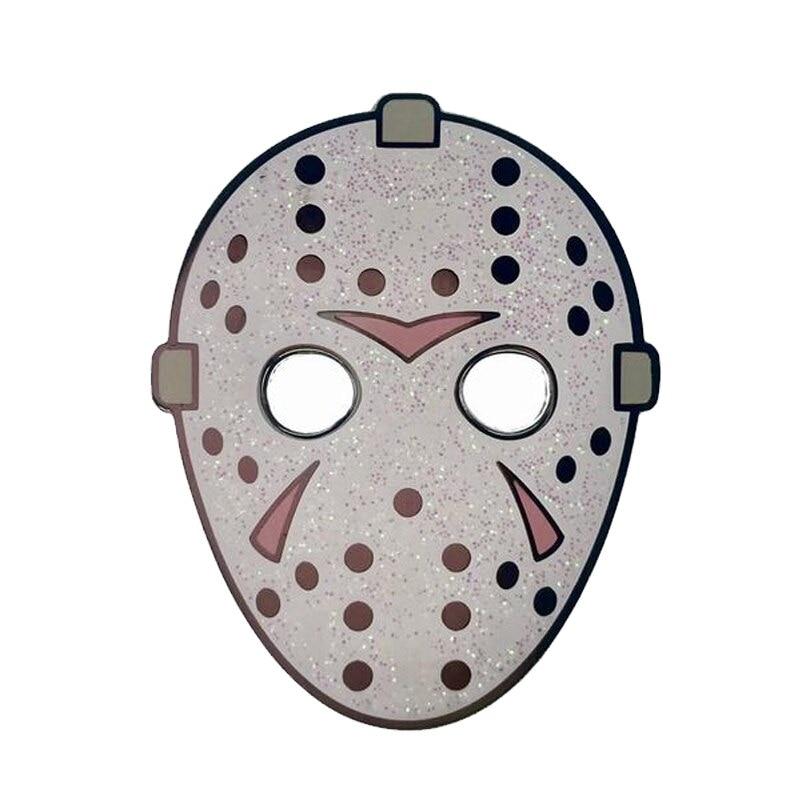 Stijlvolle Glitter Hockey Masker Pin Voeg Wat Collectible Pop Cultuur Flair Aan Uw Garderobe!