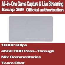 Ezcap 269 4k hdr pass through hdmi20 карта захвата игр usb30