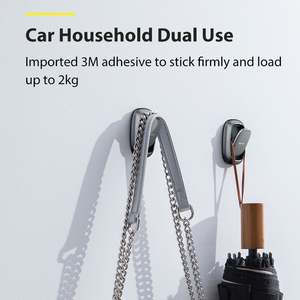 Image 2 - Baseus Auto Fastener Clip Vehicle Hooks For Bag USB Cable Storage Organizer Key Hanger Accessories 2PCS Metal Car Hooks