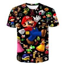 цена на 2020 Summer New style 3D T Shirt Boy and Girl Cartoon Super Mario 3D print T-shirt funny casual Gamer o neck 3d Tshirt Tops