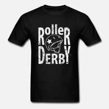 2019 Summer Fashion Hot ROLLER DERBY HELMET CONTACT SPORTSER SKATING ROLLER Mens Charcoal T-Shirt Tee shirt(China)