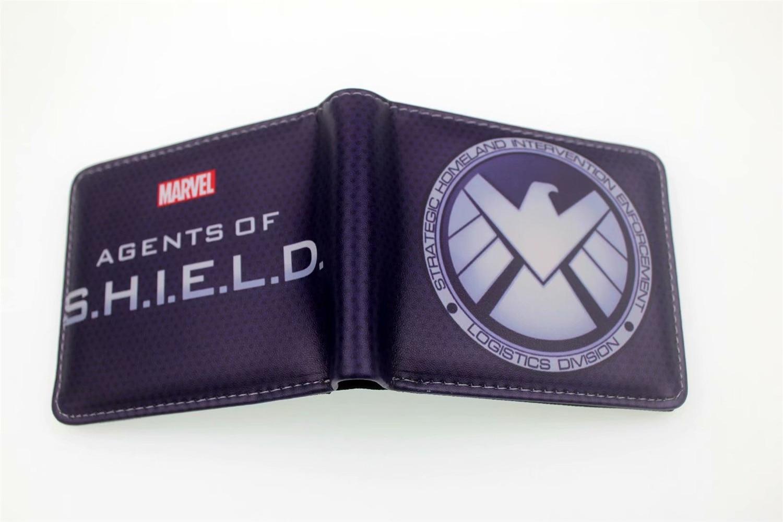 Agents Of S.H.I.E.L.D. Men Women PU Wallet Coin Purse Unisex Wallets ID/Credit Card Holder