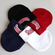 new Beanies backwoods lettering Cap Men Women Warm Knitted Wool Hat Fashion Soli